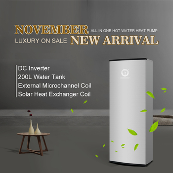 2019 NEW ARRIVAL External Microchannel Coil Solar Energy Combined DC Inverter DHW Heating Heat Pump China
