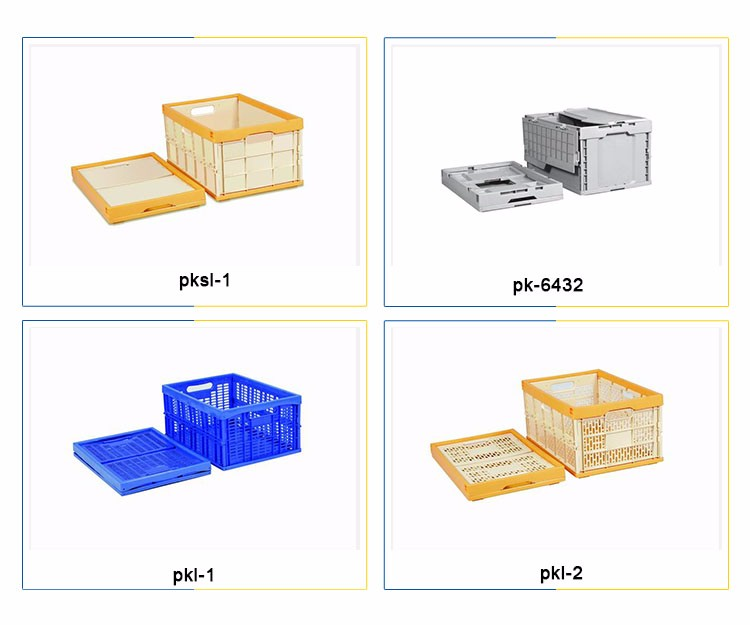 large custom plastic storage foldable containers /box