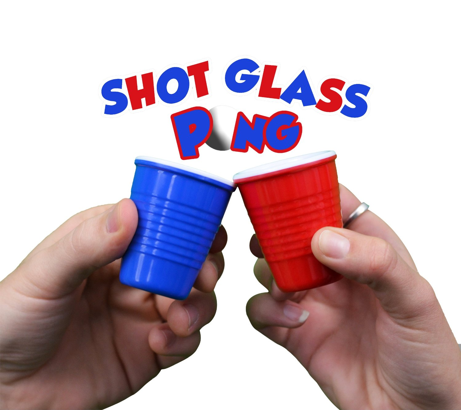 Pro Series Shot Pong Set - With Hard Plastic Melamine Glasses/Cups!