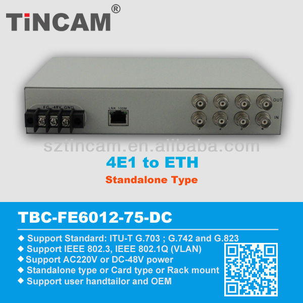 Ethernet to 4E1 converter