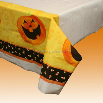 54 X 84 Inches One Time Use Decorations Halloween Printed Plastic Tablecloth
