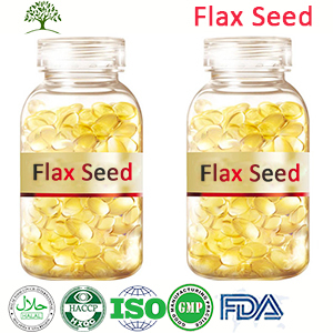 Organic Skin Care For Men Extracted Flax Seed Oil Softgel Capsule