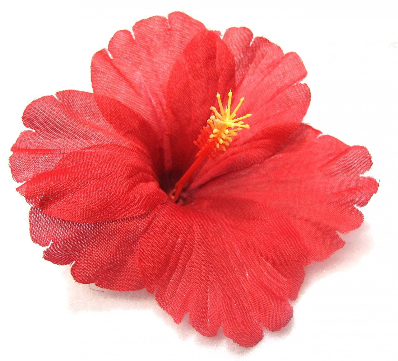 Buy Classic Red Tropical Hibiscus Flower Hair Clip In Cheap Price On