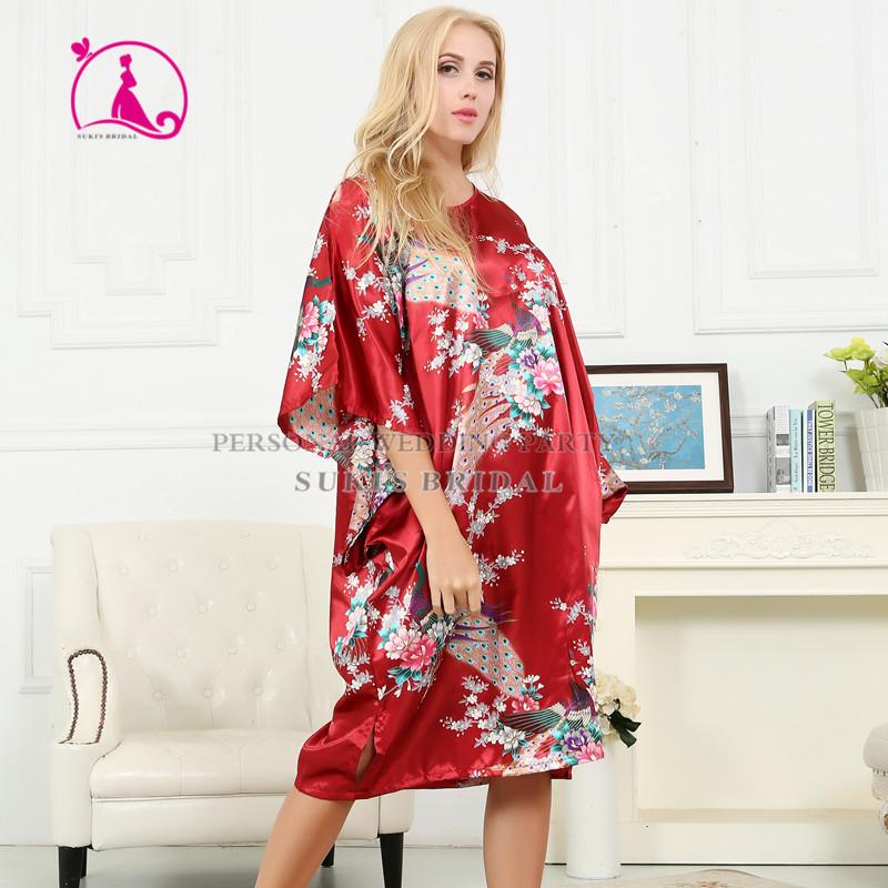Préférence Dame Soie Satin Pyjama Lingerie de Nuit Kimono Robe Chemise de  FW06