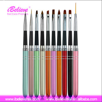 Nail Art Pen Copper Handle Brushes Japanese Hot Sale Nail Brushes