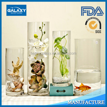 Clear Tall Cylinder Glass Vases Wholesale Electronic Furnace Buy
