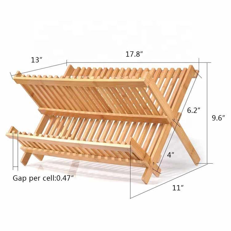 Dish-Drying-Rack-Bamboo-Dish-Rack-Collapsible