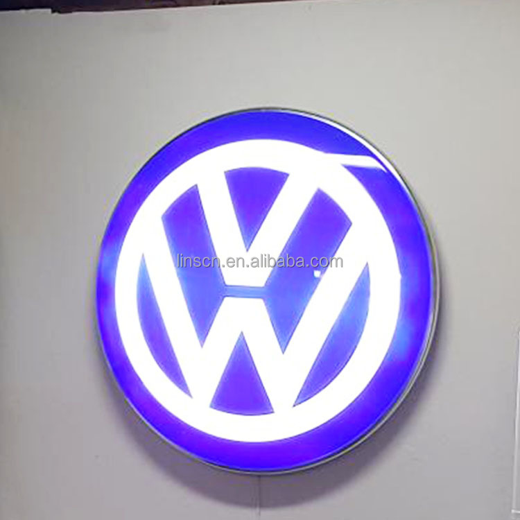 Custom laser engraved acrylic 3D printing waterproof car badge for car show
