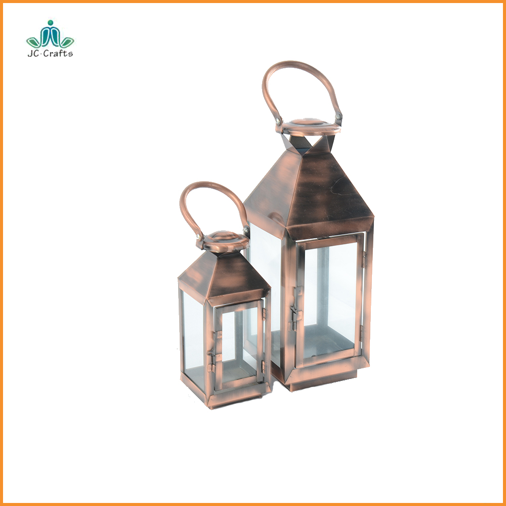 Portable outdoor lanterns pathway lamps metal decorative candle holders