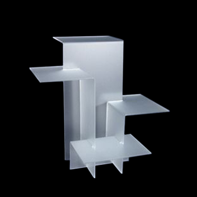 4-stufiges RISER-SHOWCASE-DISPLAY-HANDELSHOW-SCHMUCK-DISPLAYS Frosted RISER SET