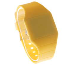 LED silicone gel electronic watch men and women's ultra-thin touch screen LED gift bowl watch foreign trade sales