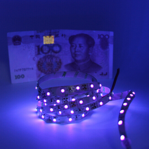 5050 SMD 60leds/m 0.5m 1m 2m 3m 4m 5m Ultraviolet Ray Purple Flexible LED Tape Ribbon DC12V Black PCB led UV Strip light