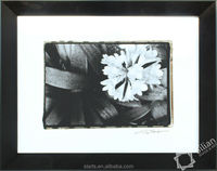 White calla of black frame wall decoration picture