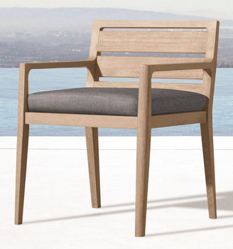 MA F007 Modern Outdoor Teak Wood Design Dining Armchair