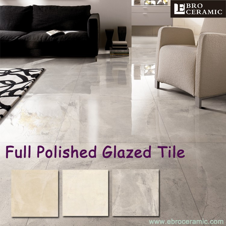 High Gloss 600 X 600 Glazed Polished Porcelain Ceramic Floor Tiles