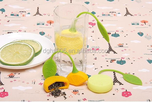 Unique instant lemon - shaped Tea Infuse/ Silicone Tea makers infusers