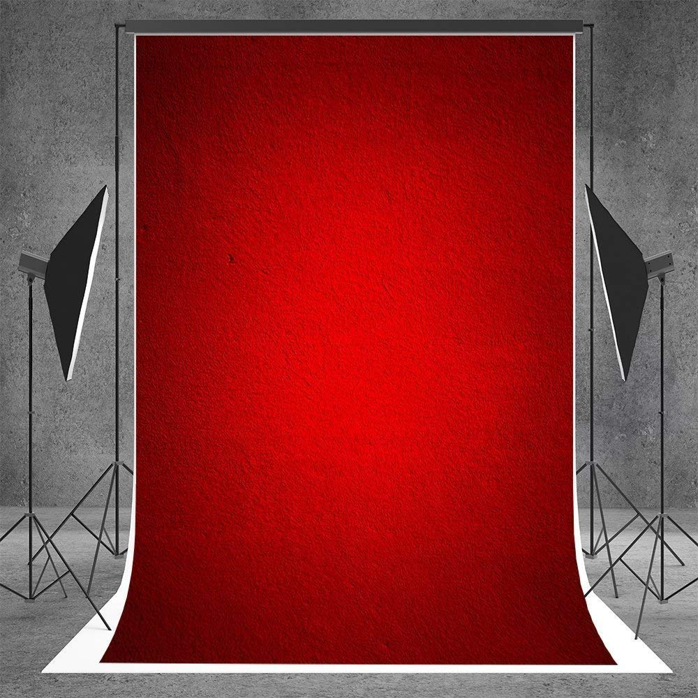 Kate 5x7ft Photography Backdrops Burgundy Abstract Background Seamless Muslin Backdrops Photography Booth Props for Kids(With pocket, After ironing, the effect is better)