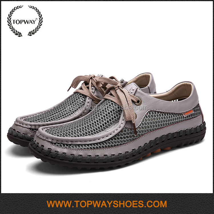 Wholesale casual breathable comfortable walking stitching shoe for Middle aged man