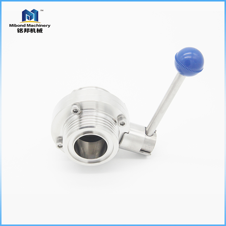 1inch 2inch High Corrosion Resistence Butterfly Valve Without Pins,Control valve Butterfly Valve for milk