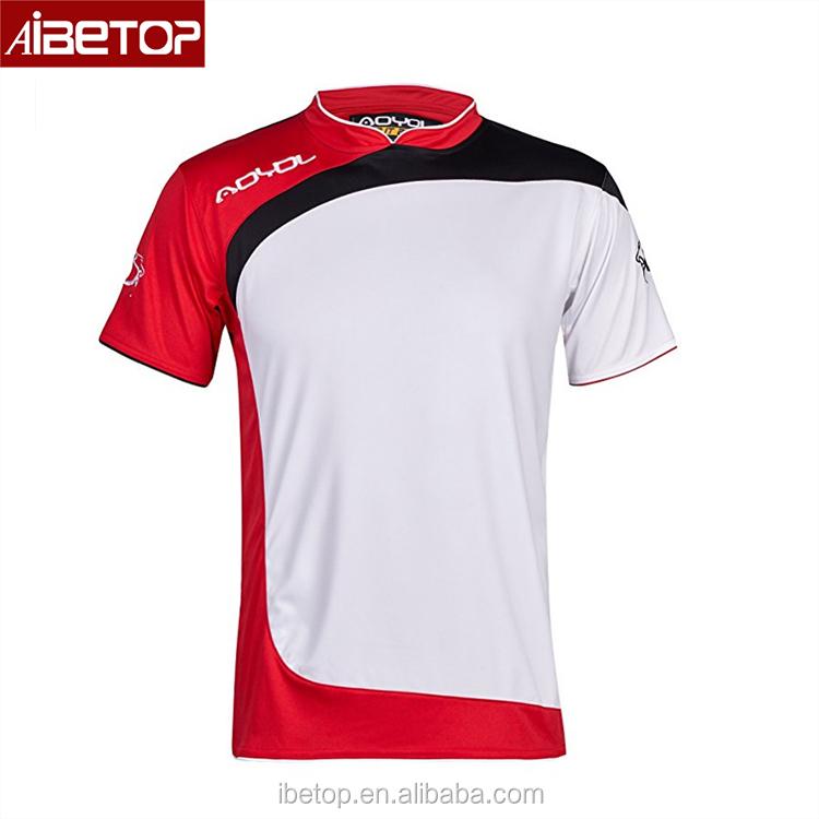Rojo Y Blanco Jerseys De Fútbol Blanco Ajuste Dri Camisetas Al Por ...