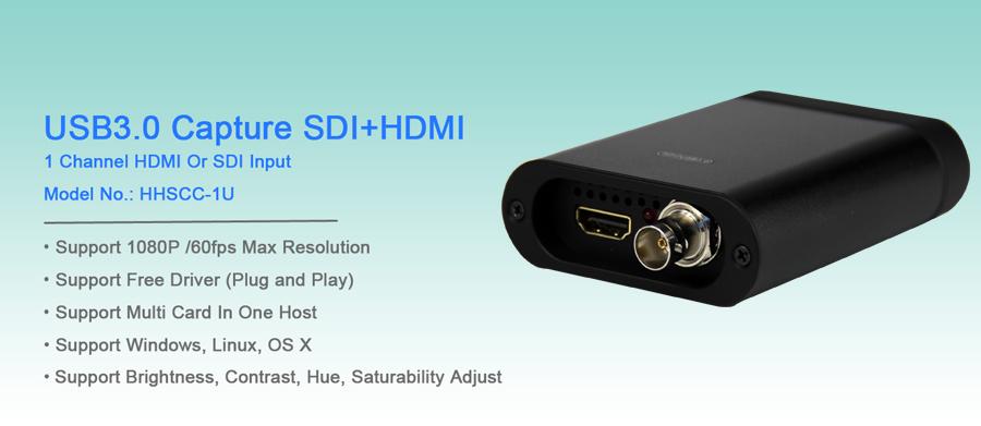 URay USB כרטיס לכידת וידאו עם HDMI או SDI קלט מחשב נייד ipad משחק לכידת 1080P @ 60fps