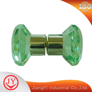 Cylindrical crystal glass decorative knob shower glass knob hardware glass door handle