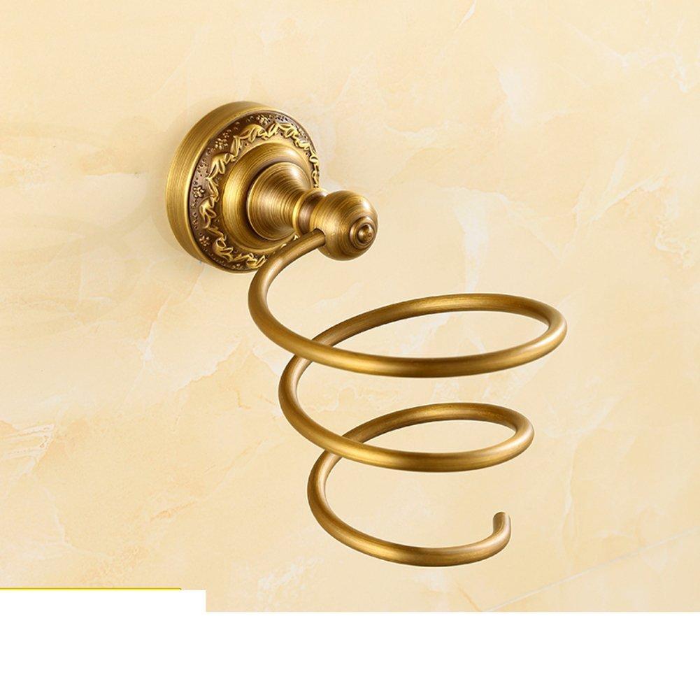 Hair Dryer Holder,Hair Dryer Shelf,Hair Blow Dryer Holder, European-style hair dryer rack Wall mounted bathroom rack bathroom hair dryer holder Bathroom Accessories-A