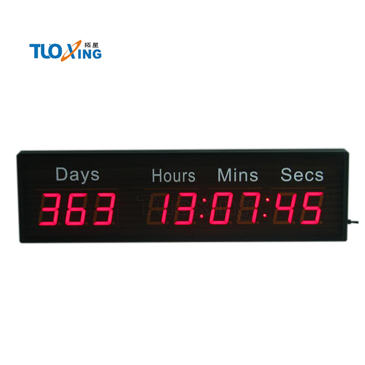 9 digit 2.3 inch grote led digitale event countdown timer