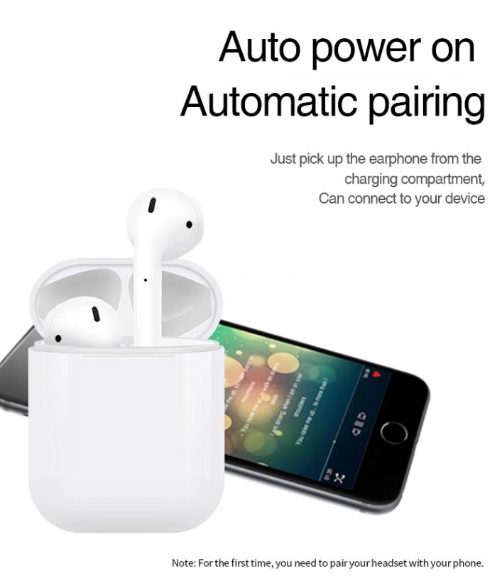 Cheap 2019 i7 i7s tws i8 i8x i19 i9s i10 I12 tws ifans bt mini earphone headphones hifi tws wireless headset earbuds
