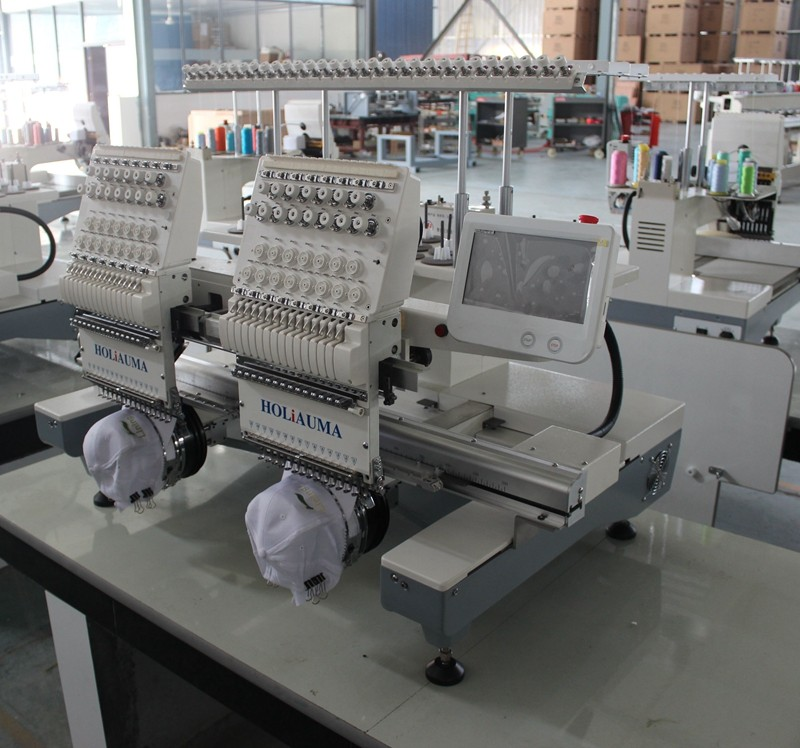 Two Head Cap Embroidery Machine Used Programmable