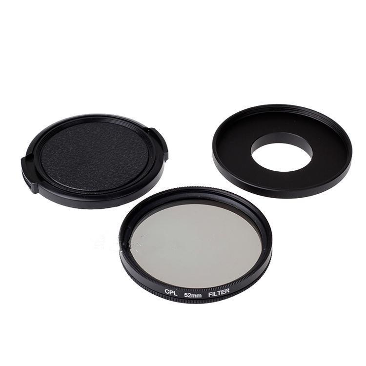 52 мм CPL фильтр объектива + переходное кольцо для объектива + крышка объектива для Xiaomi Xiaoyi Xiaomi Yi спорт действий камеры аксессуары с отслеживая