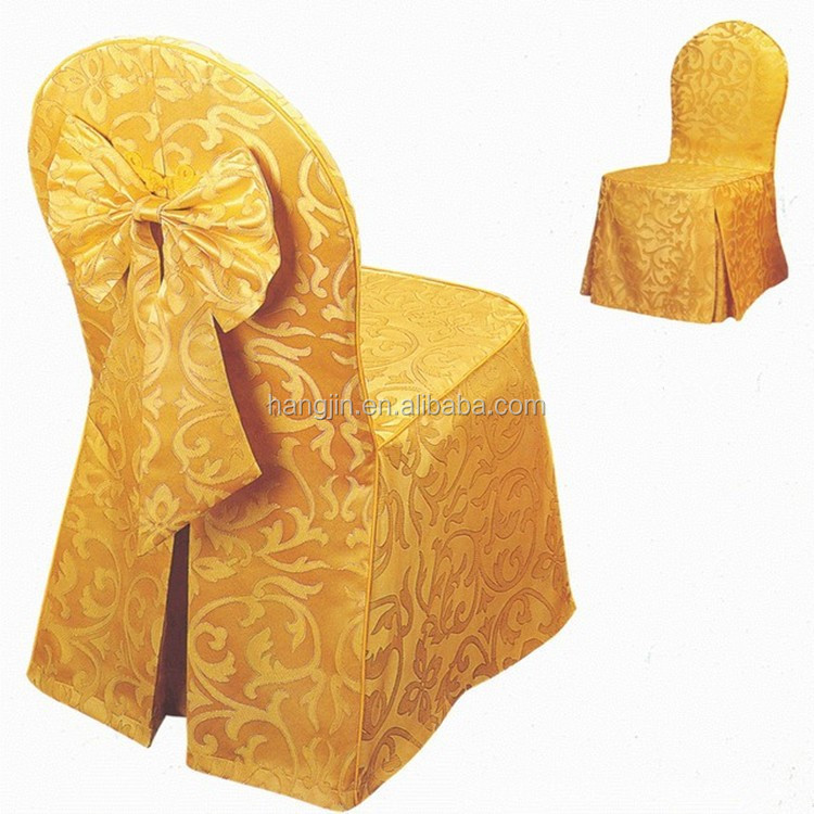 Factory Custom Jacquard Banquet Chair Cover / Home Made Chair ...