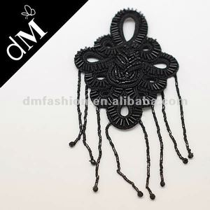 Fashion handmade bead brooch with bead chain fringe BR0005
