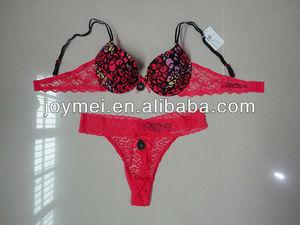 deep pink leopard push up lingerie bd13e38f1