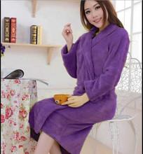 High quality Robes Autumn -winter flannel robes lovers sleepwear 2014 fashion warm bathrobe bathrobes coral fleece robe H0799