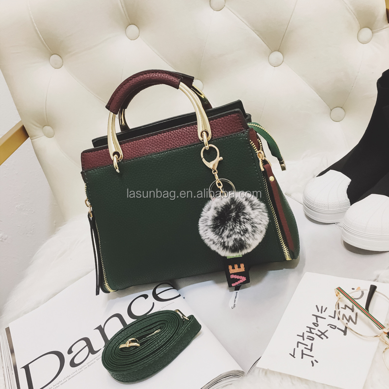 2018 New High Quality Plush Ball Design Elegance Women Shoulder <strong>Handbags</strong>
