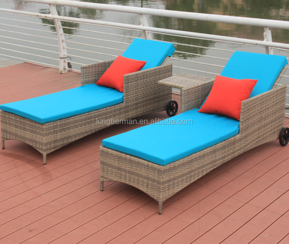 Outdoor Furniture Swimming Pool Lounge Chair Rattan Chaise Lounge for Sale Beach Chairs