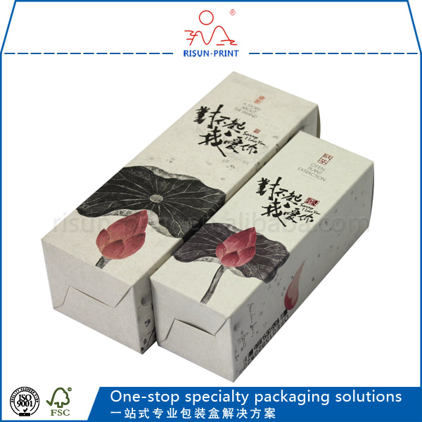 Packaing paper box with gilding for cosmetic perfume packing