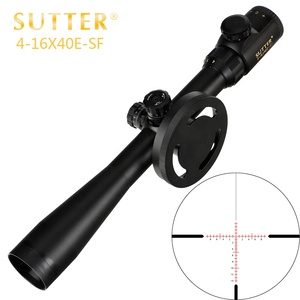 SUTTER 4-16X40E-SF Riflescope Glass Etched Reticle Red Green Illuminated Large Hand Wheel With Lock Hunting Shooting Rifle Scope