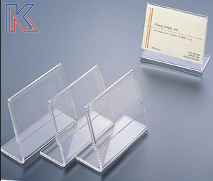 Acrylic price tag name cards price list holder acrylic sign display holder with different design slant back table tent