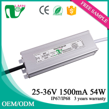 36V 1500ma waterproof constant current led driver