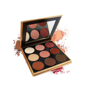 private label Vegan Make Up Cosmetics waterproof wholesale feature floral designs glitter eyeshadow palette