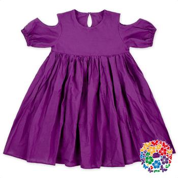 d54389c6f Purple Girls Summer Frock Designs Off Shoulder Children Girl Dress ...