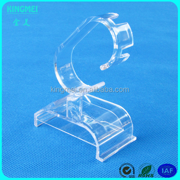 fancy elegant watch display, cheap watch holder rack, acrylic wrist c clip c shape watch display stand