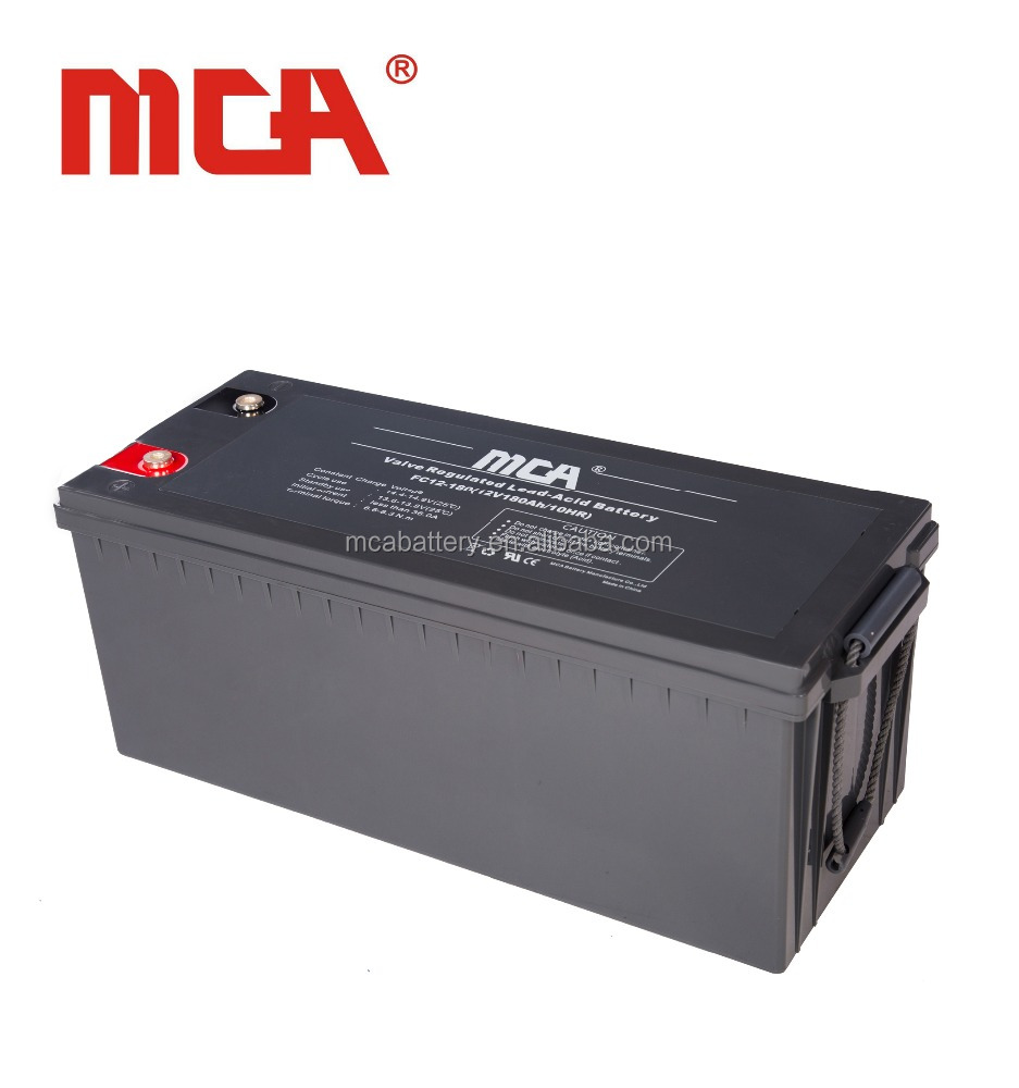 Hot sale lead crystal battery 12V 180Ah deep cycle solar battery for solar