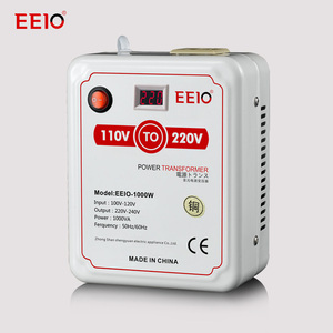 Electrical Power Transformer 1000w 110v to 220v Voltage Converter with Voltage Display