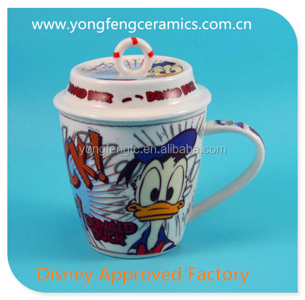 YF18076 ceramic tea cup with cover