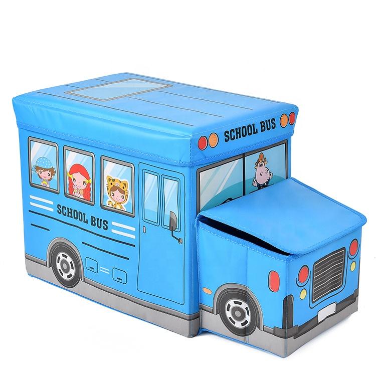 多機能車の漫画収納ビン折りたたみおもちゃバス折りたたみおもちゃの収納ボックス