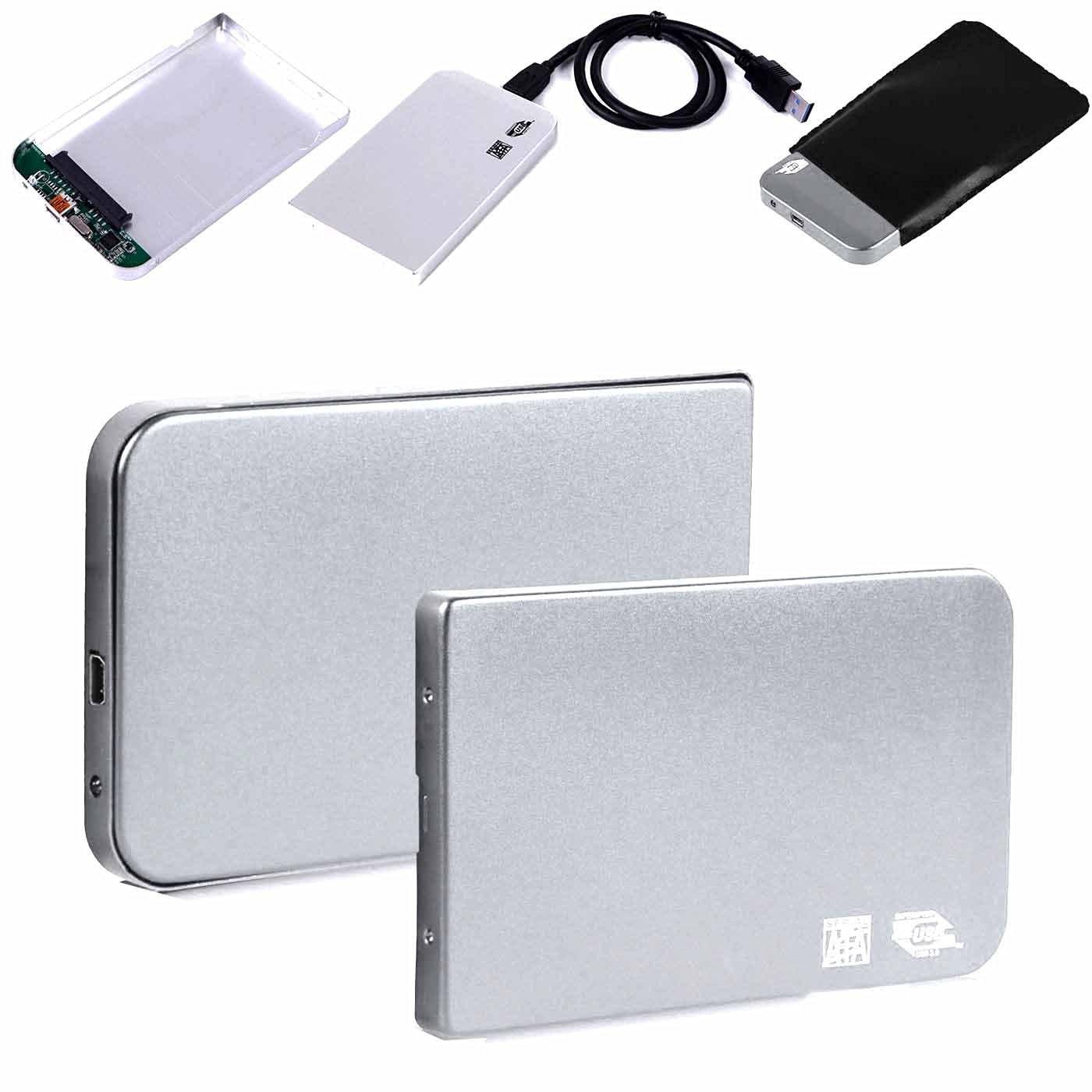 "Simply Silver - Aluminium 2.5"" USB 3.0 SATA HDD Hard Drive Disk External Case Enclosure Silver - Unbranded"