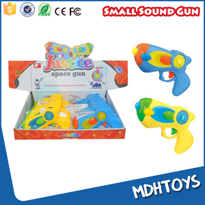 14CM battery operated kids small toy space gun music